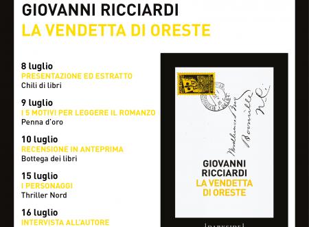 Blogtour – La vendetta di Oreste di Giovanni Ricciardi (Fazi)